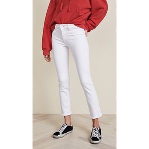 DL1961 Mara straight ankle jeans in white